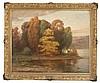 JOSEPH TOMANEK, American, 1889-1974, Autumnal river landscape., Oil on canvas, 28