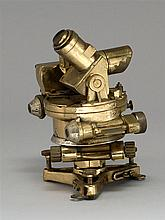 TRANSIT THEODOLITE in brass with steel measuring gauges. Unknown maker. Height 7½