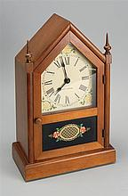 SETH THOMAS STEEPLE CLOCK with electric movement. Mahogany case. Height 14½