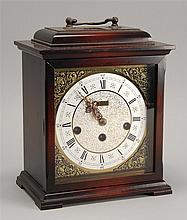 GERMAN COPY OF AN ENGLISH BRACKET CLOCK by Kienzle. Chime movement. Height 10½