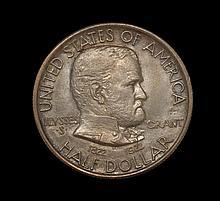 GRANT MEMORIAL U.S. COMMEMORATIVE HALF DOLLAR With star. In treasury sleeve.