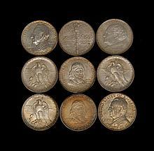 NINE U.S. COMMEMORATIVE HALF DOLLARS Includes a 1937 Texas Centennial three-coin set; two 1936 Lynchburg, Virginia Sesquicentennial;...