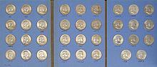 BLUE BOOK COIN HOLDER COMPLETE FRANKLIN HALF DOLLAR SET Conditions vary.