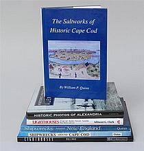 (MARITIME PHOTOGRAPHY, ETC.) Six books. 1) Quinn, W.P., The Saltworks of Historic Cape Cod. Orleans, 1993. O. Cloth. Dj. 2) Clark, A...