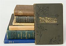 (WHALING & EXPLORATION) Seven books. 1) Kingston, W.H.G., The Two Whalers; Or, Adventures in the Pacific. London, (circa 1880). 12mo...