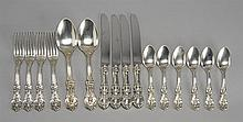 SIXTEEN PIECES OF STERLING SILVER FLATWARE BY REED & BARTON In the
