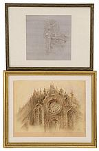 ATTRIBUTED TO JOHN BYAM SHAW, English, 1872-1919, Two drawings:
