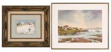 MARSHALL WOODSIDE JOYCE, American, 1912-1998, Two framed watercolors: