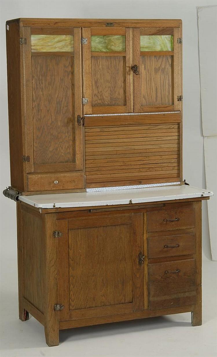 Hoosier cabinet in oak by boone kitchen cabinets upper cas for Auctions for kitchen cabinets