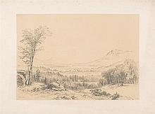 BENJAMIN CHAMPNEY, American, 1817-1907, View of Mount Washington., Pencil on paper, 8.25