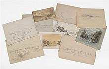 BENJAMIN CHAMPNEY, American, 1817-1907, Eleven mountain views., Mixed media on paper, sizes vary. Unframed.