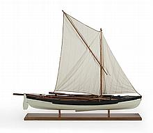 MODEL OF AN AMERICAN WHALEBOAT Highly detailed and fully equipped with gear including line tubs, oars, sweep, buckets, etc. Height 7...