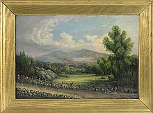 ATTRIBUTED TO JOHN WHITE ALLEN SCOTT, American, 1815-1907, A view of the Presidentials., Oil on canvas, 14