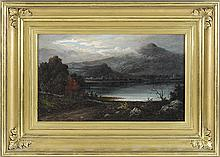 ATTRIBUTED TO GEORGE LORING BROWN, American, 1814-1889, View of Mt. Chocorua., Oil on canvas, 11