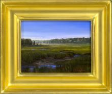 TRACY LINDHOLM, Massachusetts, Contemporary, Sesuit Marsh., Oil on board, 6