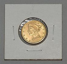 US 1885-S HALF EAGLE $5 GOLD PIECE. VF-EF-40.