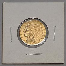 US 1912 HALF EAGLE $5 GOLD PIECE. VF.