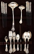 GORHAM MFG. CO. STERLING SILVER FLATWARE SET In the