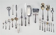 CASED GORHAM MFG. CO. STERLING SILVER FLATWARE SERVICE In the