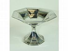 An Edwardian silver tazza of octagonal shape, 10cm high, 14cm wide, Birmingham 1910, ___4oz.