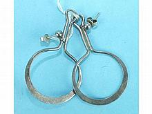 A pair of Norwegian silver earrings bearing marks for Anna Greta Eker, Norway Sterling 925 S JLM .92