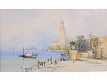 Edwin St John (1880-1920) CONTINENTAL LAKE SCENE