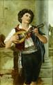 BERLIN KPM PORCELAIN PLAQUE OF MUSICIAN WOLFF