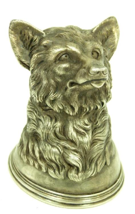 RUSSIAN SILVER WOLF'S HEAD CUP
