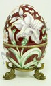 IMPERIAL RUSSIAN ENAMELED SILVER FLORAL EGG