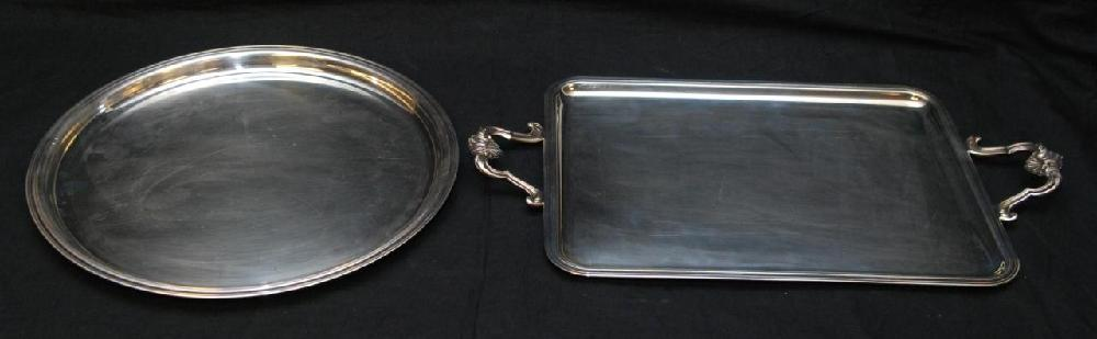 2 CHRISTOFLE FRENCH SILVERPLATE TRAYS