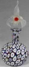 MILLEFIORI ART GLASS SCENT BOTTLE WITH STOPPER