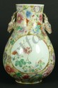 RARE CHINESE MILLE FLEUR STAG HEAD PORCELAIN VASE