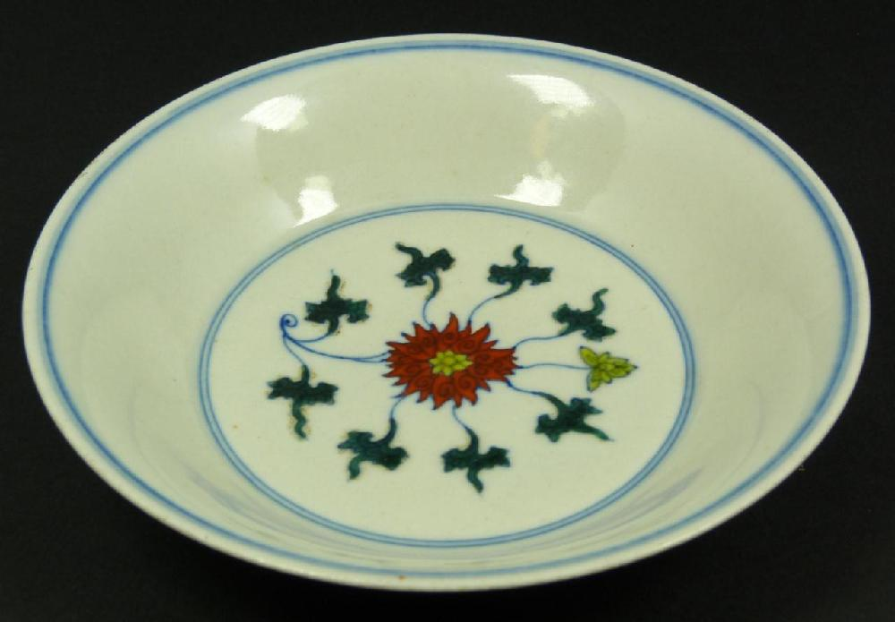 18th CENTURY CHINESE PORCELAIN DOU CHAI BOWL