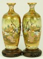 PAIR OF ANTIQUE JAPANESE PORCELAIN SATSUMA VASES