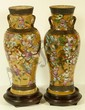 Pr CHINESE HAND PAINTED PORCELAIN VASES