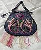 Victorian Beaded Handbag/Pink Floral