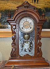 Victorain Black Walnut Gilbert Mantle Clock