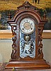 Victorain Black Walnut Gilbert Mantle Clock