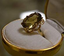 14 Kt YG Citrine Dinner Ring