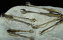 4 Sterling Silver Tongs