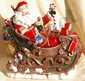 Ceramic Santa & Sleigh Cookie Jar