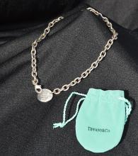 Tiffany Sterling Link Neck Chain w/Lozenge