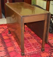 Federal Walnut Deep Drop Leaf Table w/Block Feet