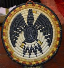 Hand Woven coil Hopi Eagle Plate