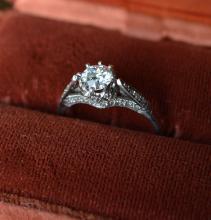 Platinum Solitare Diamond Ring 65 pt.