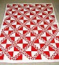 Hand Worked Red & White Quilt