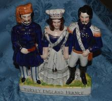 Victorian Staffordshire Figures/Turkey-England -France
