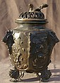 Asian Bronze Pot w/Pierced Top