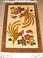 Chinese Silk Rug w/Roosters