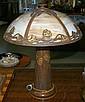 Art Nouveau Style Slag Glass Table Lamp